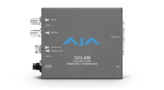 AJA 12G-AM-R 8-Channel 12G-SDI AES audio Embedder/Disembedder