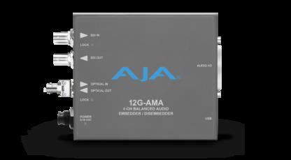 AJA 12G-AMA-R-ST 4-Channel 12G-SDI balanced analog audio Embedder/Disembedder
