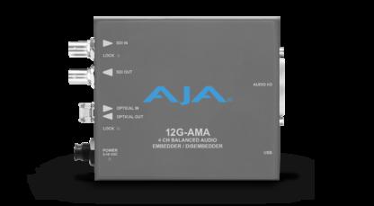 AJA 12G-AMA-T 4-Channel 12G-SDI balanced analog audio Embedder/Disembedder
