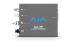 AJA 12G-AMA-T-ST 4-Channel 12G-SDI balanced analog audio Embedder/Disembedder