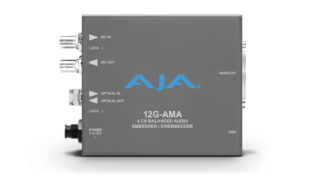 AJA 12G-AMA-TR 4-Channel 12G-SDI balanced analog audio Embedder/Disembedder