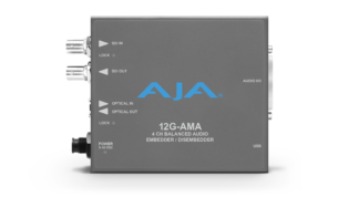 AJA 12G-AMA 4-Channel 12G-SDI balanced analog audio Embedder/Disembedder