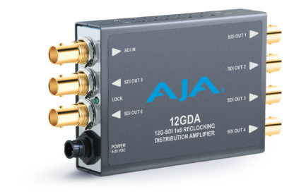 AJA 12GDA 12G/6G/3G/HD/SD-SDI Distribution Amplifier