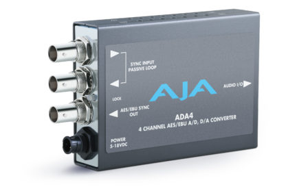 AJA ADA4 4-Channel Bidirectional Audio A/D & D/A Converter