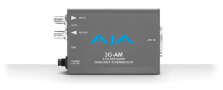 AJA 3G-AM 8-Channel AES Embedder/Disembedder med XLR Breakout kabel
