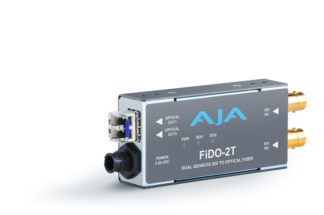 AJA FiDO-2T 2-Channel 3G-SDI to Single-Mode LC Fiber Transmitter
