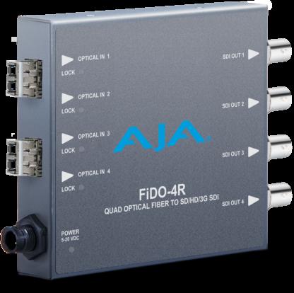 AJA FiDO 4-Channel Single Mode LC Fiber to 3G-SDI Receiver