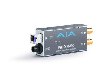 AJA FiDO-R-SC 1-Channel Single-Mode SC Fiber to 3G-SDI Receiver