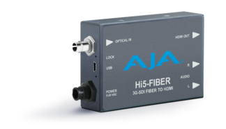 AJA HI5-FIBER 3G-SDI over Fiber til HDMI Video og Audio Converter