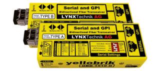 Lynx OBD 1510 D RS232/422/485 Serial og GPI Bidirectional Fiber Transceiver