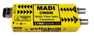 Lynx OTR 1240 MADI Coax to MADI Fiber Transceiver (CWDM) - 40km