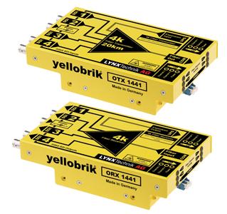 Lynx OTR 1441 4K fiber transmission system