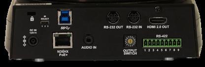 NewTek NDI HX 4K Camera connections