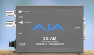 AJA 3G-AM 8-Channel AES Embedder/Disembedder