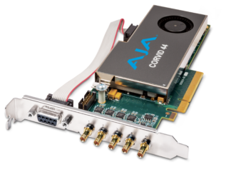 AJA CORVID 44 8-Lane PCIE 2.0 -Tall Bracket - 5X 101999-02 Cables