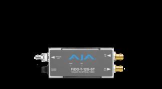 AJA FiDO-T-12G-ST 1-Channel 12G-SDI to Single Mode ST Fiber Transmitter