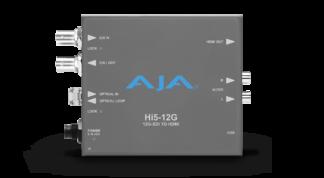 AJA HI5-12G-R 12G-SDI til HDMI 2.0 konverter med LCFiber Receiver