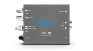AJA HI5-12G-R-ST 12G-SDI til HDMI 2.0 konverter med ST Fiber Receiver