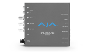 AJA IPT-10G2-SDI 3G-SDI to SMPTE ST 2110 IP Mini-Converter