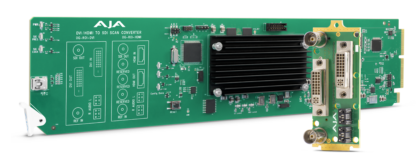 AJA DVI to SDI with Region of Interest Scaling and Dashboard Support