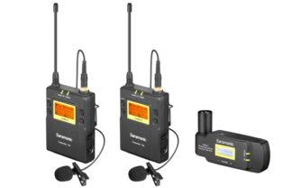 Saramonic UwMic9 Kit8 TX9+TX9+RX-XLR9 UHF Wireless Lavalier Microphone System
