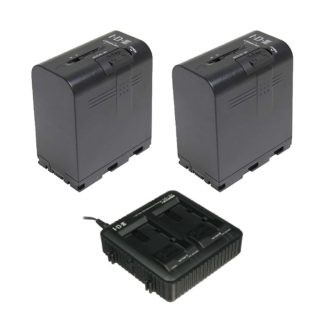 IDX JP-2 Kit with 2x SSL-JVC75 Batteries and 1x LC-2J Charger. The SSL-JVC75 Lithium-Ion Battery