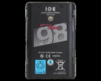 IDX 2 x DUO-C98 Batteri med VL-2X lader