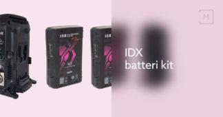 IDX batteri kit med 2 x CUE-H90 og 1 x VL-2X lader IDX batteri kit