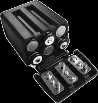 AA-batteriadapter med Sony NP-F-kontakt