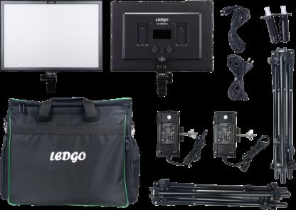LEDGO LG-E268C 2 LIGHT KIT W/STAND AND BAG