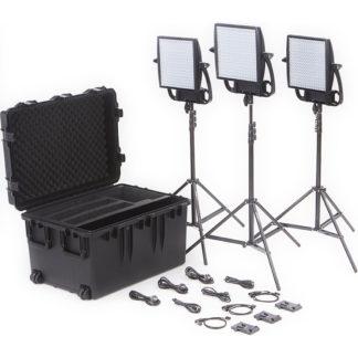 LitePanels Astra 6X Bi-Color LED Panel Traveler Trio V-Mount Kit
