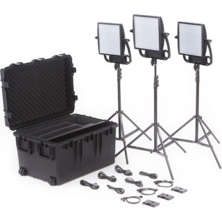 LitePanels Astra 3X Bi-Color LED Panel Traveler Trio Gold Mount Kit