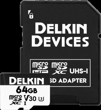 DELKIN MICROSD ADVANTAGE R90/W90 64GB