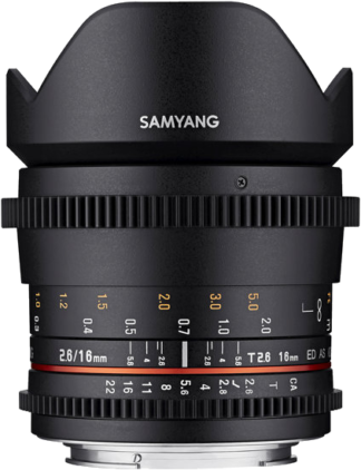 SAMYANG 16MM T2.6 ED AS UMC CANON EF