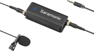 SARAMONIC LAVMIC AUDIO ADAPTER and LAVALIER MIC
