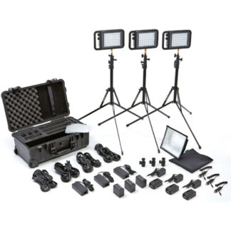 LitePanels Lykos BiColor Flight Kit with Battery Bundle