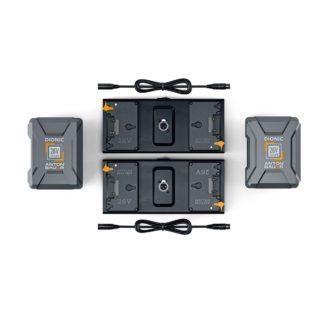 Litepanels 2x 26V 240Wh Battery set for Dual Array Light Kit
