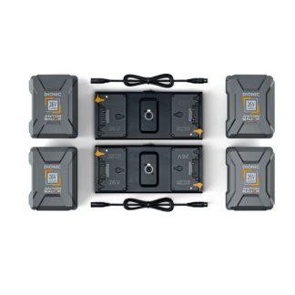 Litepanels 4x 26V 240Wh Battery set for Dual Array Light Kit