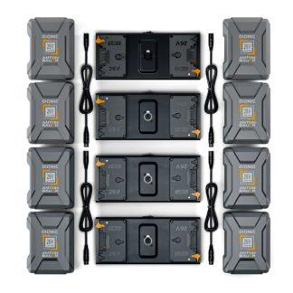 Litepanels 8x 26V 240Wh Battery set for Quad Array Light Kit